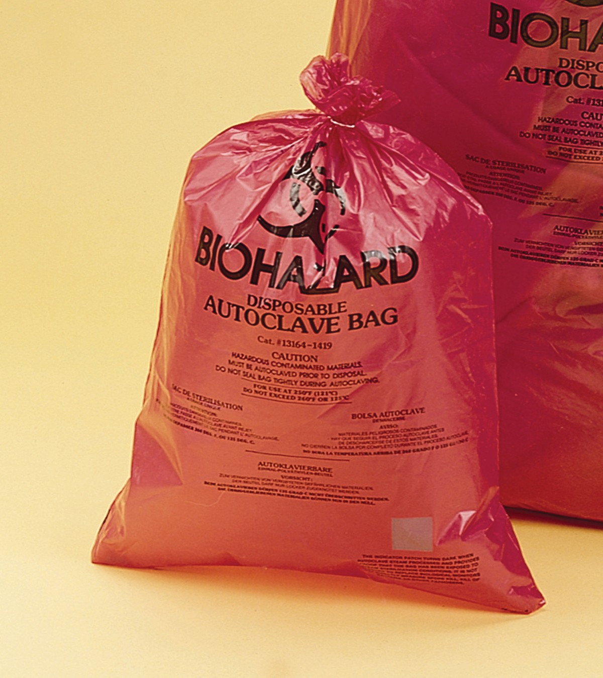 Biohazard disposal bags 64 x 89cm - Super Strength (Pack of 200 pcs)