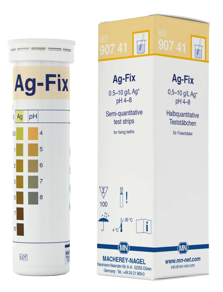 Ag-Fix for silver in fixing baths (Tube of100 test strips)
